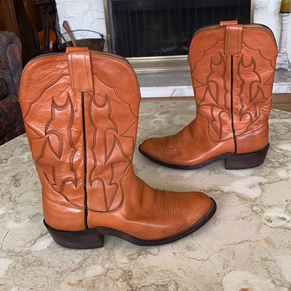 The Sanders Boot Co. Vintage Leather Cowboy Boots